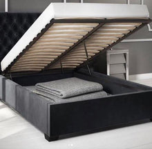Load image into Gallery viewer, Cairo with storage fabric bed - Bed Empire