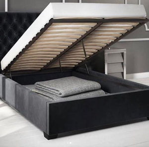 Cairo with storage fabric bed - Bed Empire