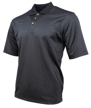 Kirkland Signature Mens Moisture Wicking Performance Polo - Black Textured