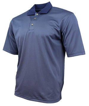 Kirkland Signature Mens Moisture Wicking Performance Polo - Dark Blue Textured