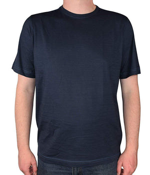 Kirkland Signature Men's Peruvian Pima Cotton Crew Neck T-Shirt-Dark Navy