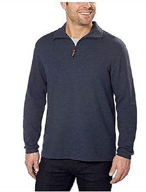 Hudson River Men's Long Sleeve 1/4 Zip Pullover Sweater - Midnight Heather