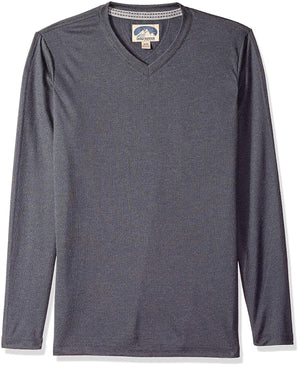 Dakota Grizzly Men's V-Neck Pullover Long Sleeve Shirt - Ash