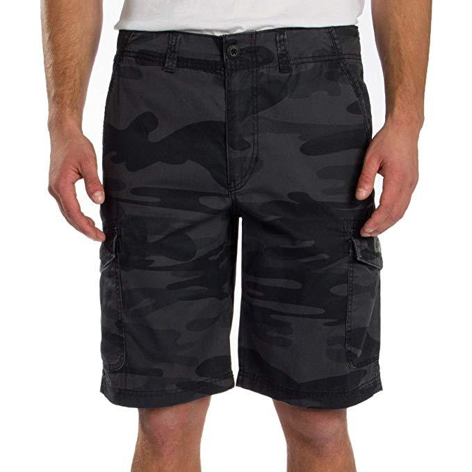 UNIONBAY Men's Medford Lightweight Cotton Cargo Short - Black Camo