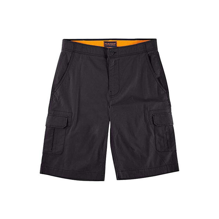 Wearfirst Mens Stretch Caution Ripstop Cargo Shorts - Nouvelle Black