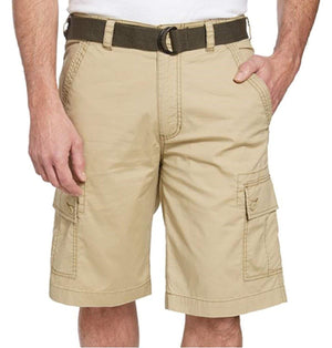 Wearfirst Mens Stretch Caution Ripstop Cargo Shorts - Vintage Khaki