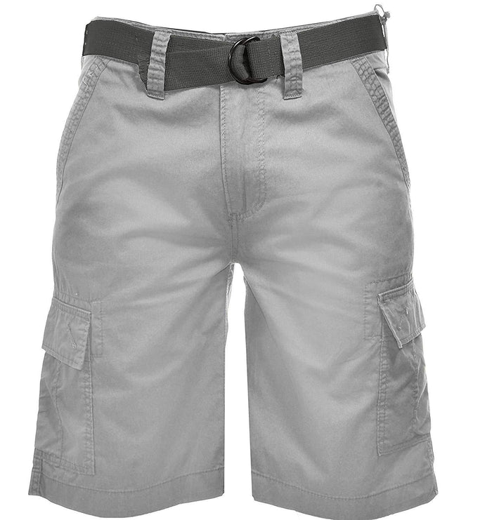 Wearfirst Mens Stretch Caution Ripstop Cargo Shorts - Silver Sand