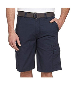 Wearfirst Mens Stretch Caution Ripstop Cargo Shorts - Dress Navy