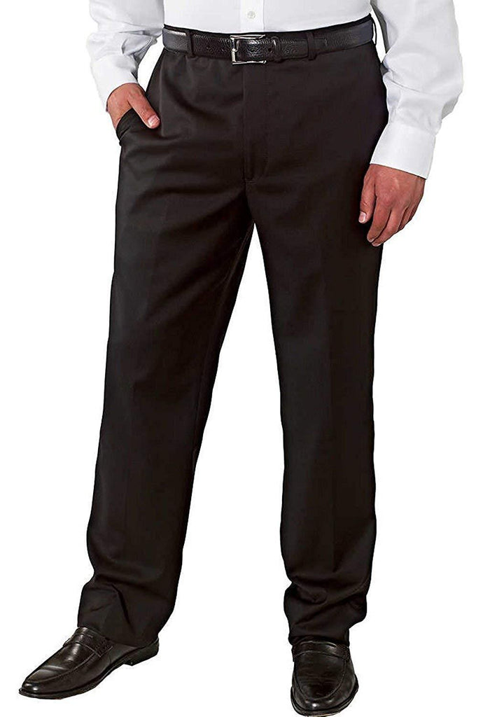 Kirkland Signature Mens Flat Front  Pants - Black