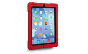 The Joy Factory aXtion Bold Back Case with built in screen protector for iPad 2/3/4 - Red