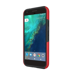 Incipio DualPro Back Cover for Google Pixel XL Smartphone - Iridescent Red / Black