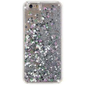 MILK & HONEY Clear Back Case for iPhone 6s/7  - Waterfall with Silver Glitters