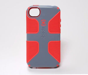 Speck CandyShell Grip Back Case for iPhone 4/4S, Grey with Orange lines