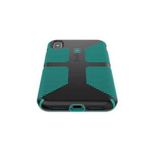 Speck CandyShell Grip Back Case for iPhone 4/4S, Dark Blue with Green lines