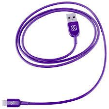 Scosche strikeLINE Charge and sync Cable for iPod/iPad/iPhone - Purple