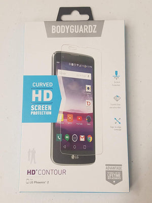 BodyGuardz Curved HD Screen Protector for LG Phoenix 2