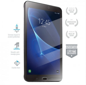 BodyGuardz Pure Tempered Glass Screen Protector for Samsung Galaxy Tab E - Tranparent