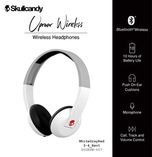Skullcandy Uproar Bluetooth Headphones (White)