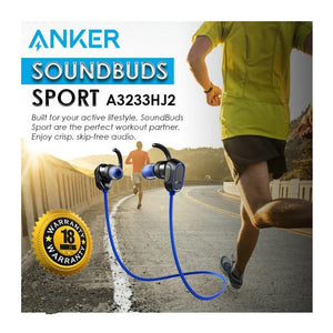 Anker SoundBuds Sport Bluetooth Headphones - Blue