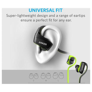 Anker SoundBuds Sport NB10 Bluetooth Headphones - Black/Green