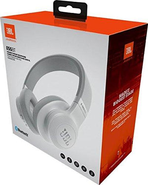 JBL E55BT Signature Sound Wireless Over-Ear Headphones with Mic (White)