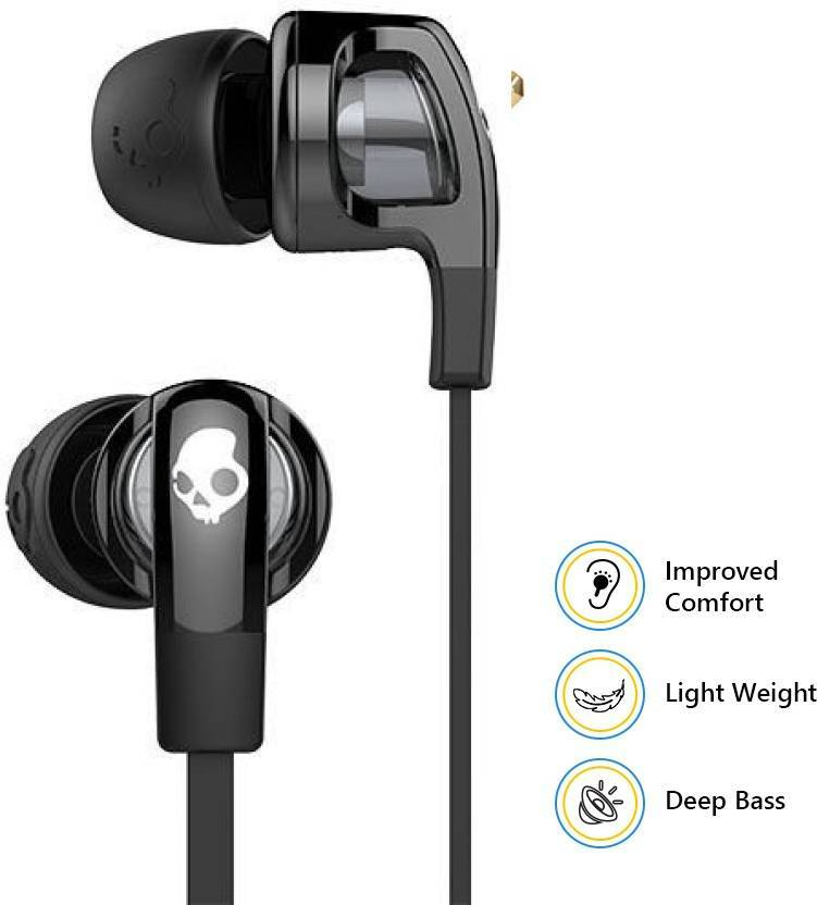 Skullcandy Smokin' Buds 2  Earphones wired with Mic - Black