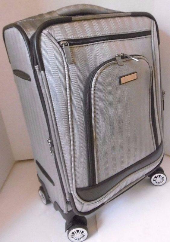 "PERRY ELLIS CARRY-ON EXPANDABLE 22.4"" x 15"" x 10"" MULTIPLE INTERIOR COMPARTMENTS"