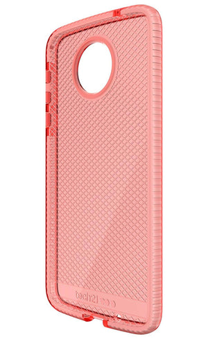 Tech21 EVO Check Back Cover for Moto Z Droid - White/Rose