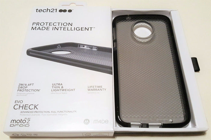 Tech21 Evo Check Case for Moto Z Play Droid - Smokey Black