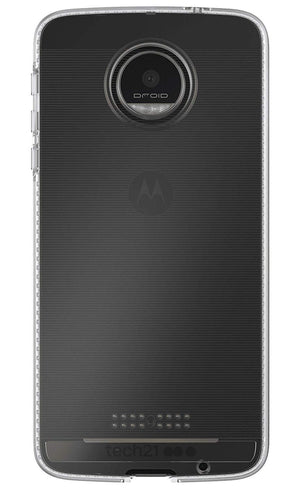Tech21 Impact Clear Back Cover for Moto Z Droid - Transparent/Frosted