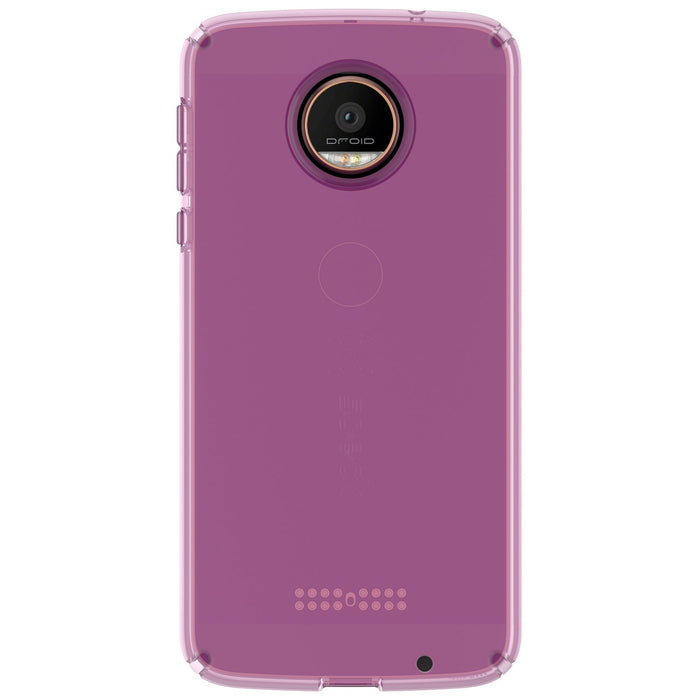 Speck CandyShell Transparent Back Case for Moto Z Droid - Clear Purple
