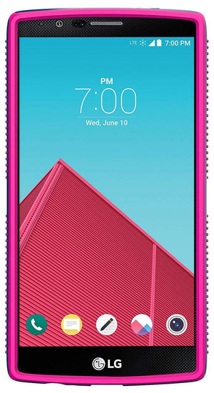 Speck CandyShell Grip Back Case for LG G4, Blue with Pink lines