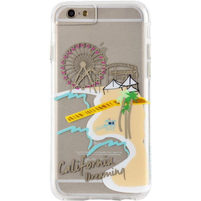 Case-Mate NakedTough  California Print Back Cover for Apple iPhone 6 Plus - Transparent