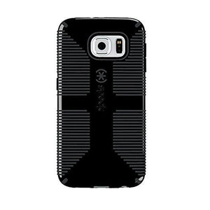 Speck CandyShell Grip Back Case for Samsung Galaxy S6, Black with Grey lines