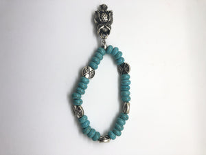 Bracelet -  rondelle bead with owl -BT003