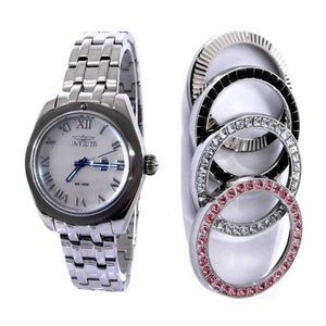 Invicta 22876 Women's Wildflower White MOP Dial Watch & Bezel Set