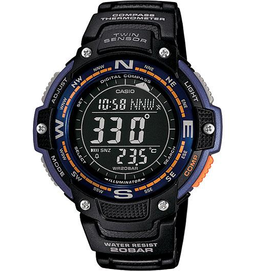 Casio?® Twin Sensor Digital Smart Watch, Black (SGW100-2B)