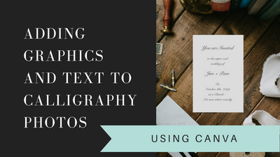 How to use Canva for Calligraphers