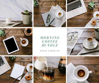 Morning Coffee Photo Bundle- 33 photos