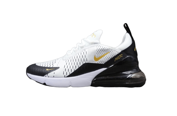 Nike Air Max 270 Blanc/Noir/Or