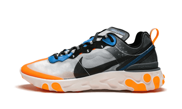 Sneakizy chaussure NIKE React Element 87 Thunder Blue Orange