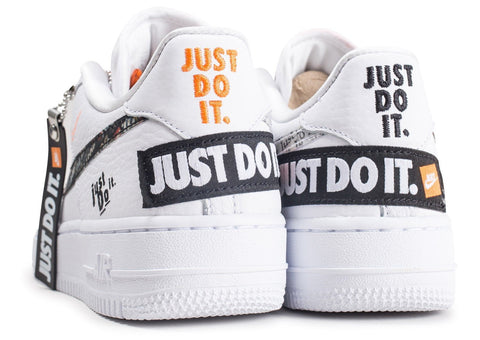 nike air force 1 just do it blanc