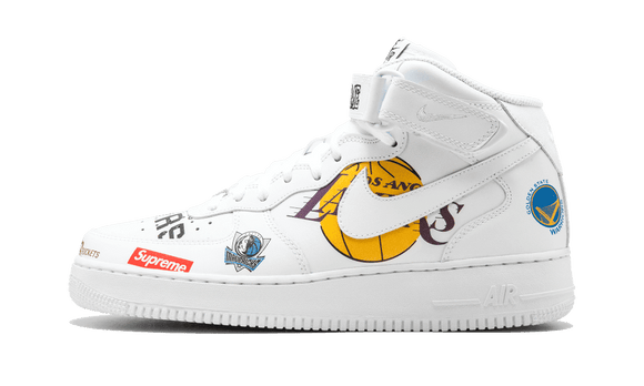 Sneakizy NIKE Air Force 1 Supreme NBA Blanche