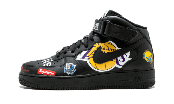 Sneakizy NIKE Air Force 1 Supreme NBA Noire