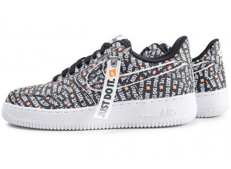 "Sneakizy Nike Air Force 1 ""Just Do It"" Premium noire"