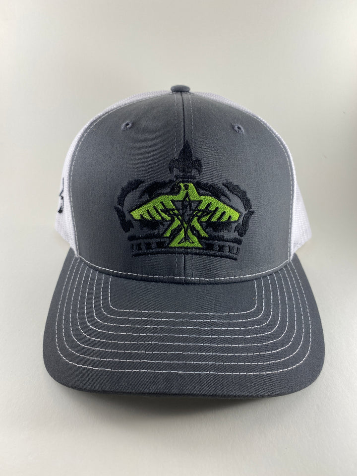 S.J. Victor Trucker Hat (Heather Grey/White/Lime Green)