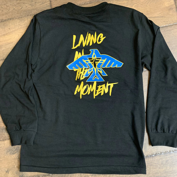 Living in the Moment Long Sleeve Shirt (Black/Golden Yellow/Sky Blue)