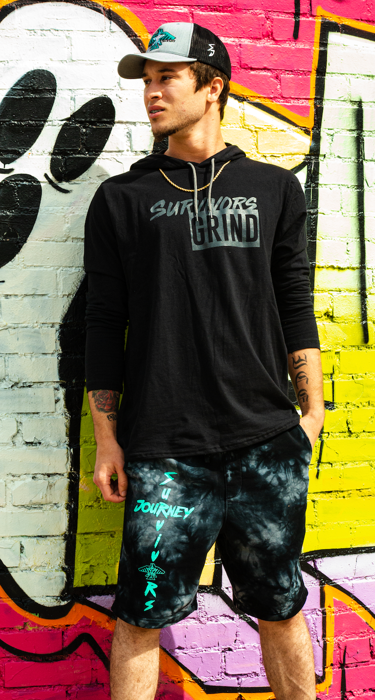 Survivors Grind Lightweight Hooded Long Sleeve Shirt