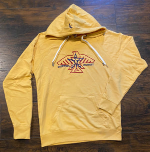S.J. Logo Lightweight Hoodie (Harvest Gold/Navy/Deep Red)