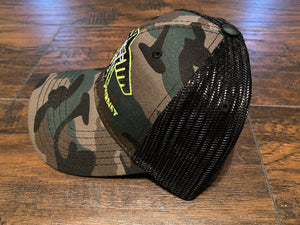 S.J. Trucker Hat (Camo/ Neon Yellow)